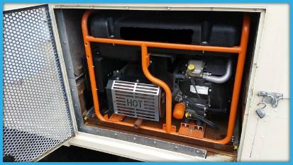 Voorbeeld  ingebouwd stroomaggregaat in een foodtruck
