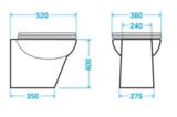 Stilo plus toilet met geïntegreerde broyeur en bidet