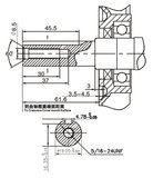 PTM200: 6.5pk 196cc OHV benzinemotor 19,05mm as_