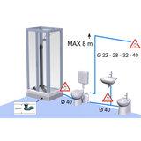 Professionele toilet broyeur met vermaler 420 Watt