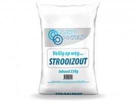 Strooizout zak 25 kg wegenzout en dooizout