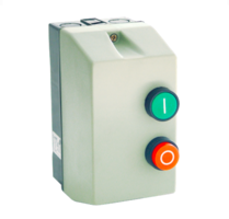 Motor start relais 400V inclusief kast en motorbeveiliging 9A