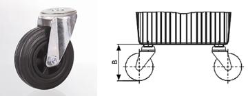 Zwenkwiel voor aluminium hydrauliekbak 30-44-70