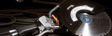Hydraulische bandenzaag / doorslijper 400mm