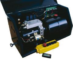 Onderschuif laadklep hydraulische pompunit