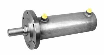 Dubbelwerkende hydrauliek cilinder met bevestigingsflens 80x50x300mm