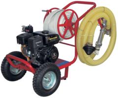 PTM brandweer waterpomp, hogedruk waterpomp van 7 bar op trolley
