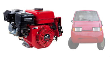 PTM200pro: 6.5 pk Amica Brommobielmotor