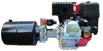 P+T hydraulieksysteem met 6,5pk benzinemotor en e-start
