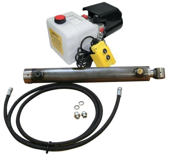 Afbeelding van Elektrisch bediende hydraulische trailerset met powerpack, 4T