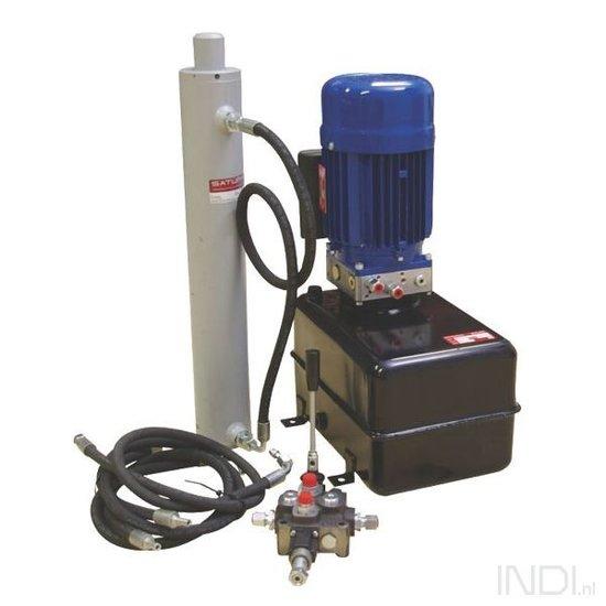 Afbeelding van Elektrische kloofset 1,5kW compleet met dubbelpomp, cilinder en ventiel