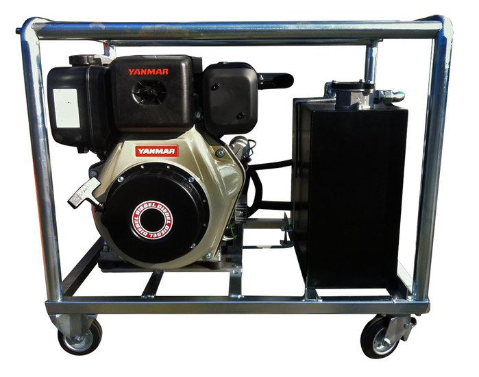Afbeelding van Hydrauliek aggregaat / powerpack met 10pk Yanmar dieselmotor