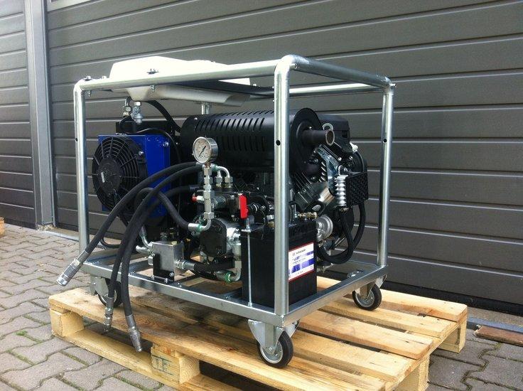 Afbeelding van Hydrauliek aggregaat met 22 pk v-twin benzinemotor