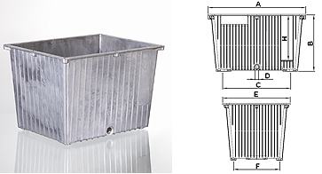 Afbeelding van hydrauliekbak 12L aluminium