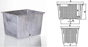Afbeelding van hydrauliekbak 20L aluminium