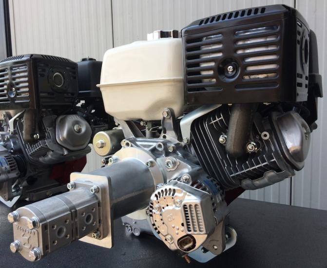 Afbeelding van Hydrauliek motor/pomp/alternator combinatie Honda GX390