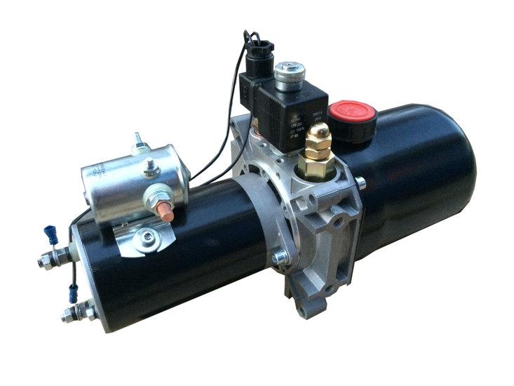 Afbeelding van 12V enkelwerkend hydrauliek aggregaat mini-powerpack