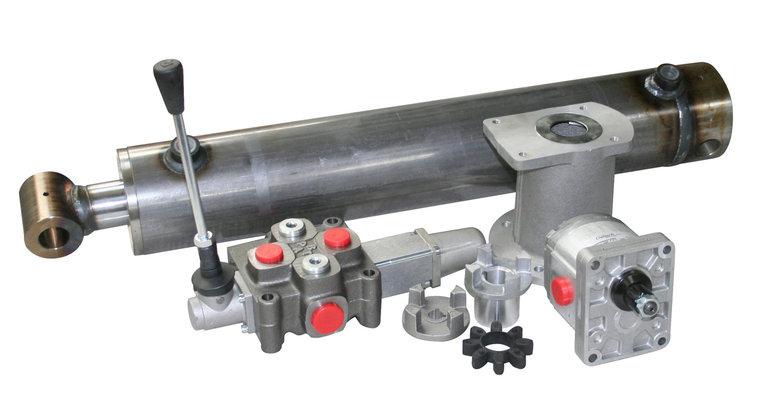 Afbeelding van Semi professionele kloofmachine set 15 ton met enkele pomp