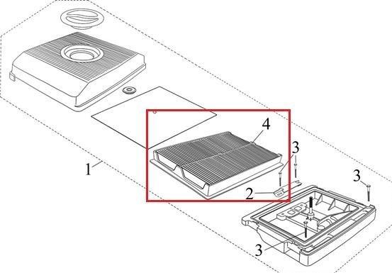 Afbeelding van luchtfilter passend voor Loncin LC2V78F / PTM680pro