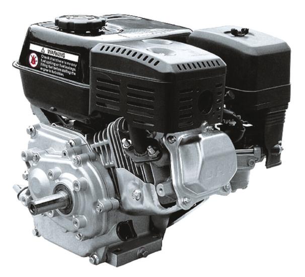 Afbeelding van PTM200CPRO: 6,5pk benzinemotor met 1:2 reductie 20mm as