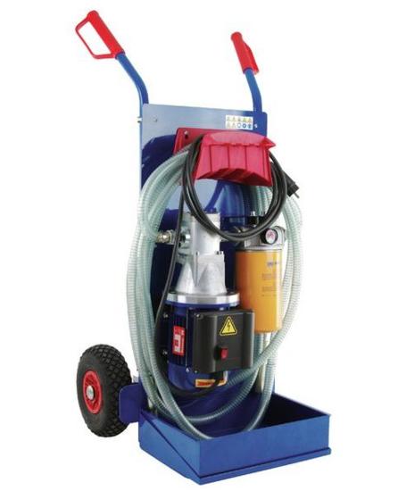 Afbeelding van Olie filter aggregaat op steekwagen