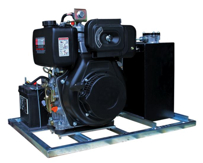Afbeelding van Hydrauliek aggregaat/powerpack met 10pk dieselmotor
