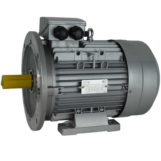 Afbeelding van IE2 Elektromotor 1,5 kW, 230/400 Volt Voetflensbevestiging B3-B5, 3000 RPM