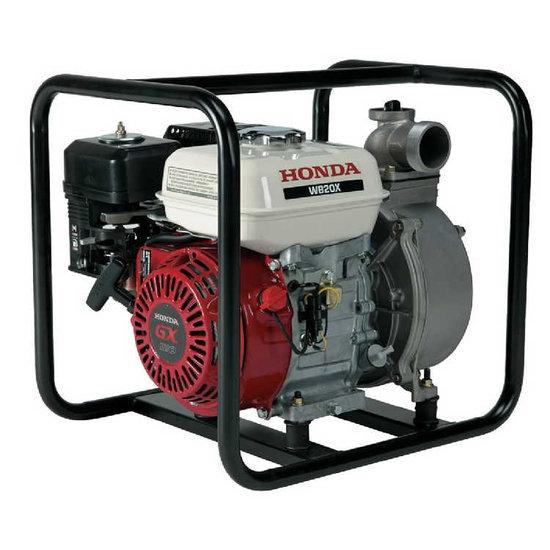 Afbeelding van Honda WB20XT Benzine waterpomp 3,2 bar 36000 l/uur