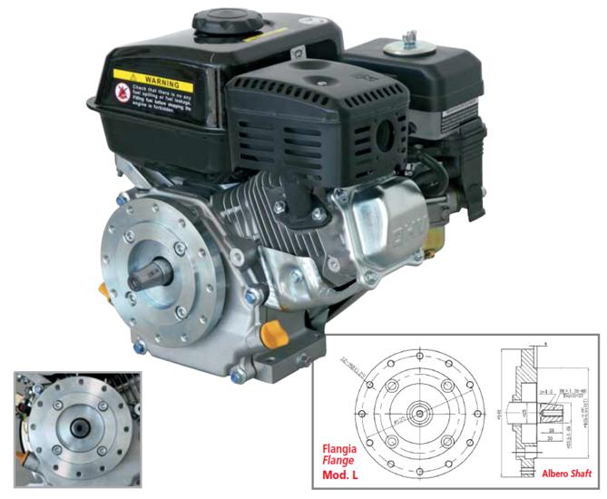 Afbeelding van PTM200PRO: krachtige 6,5pk OHV benzinemotor (professional series) conische as