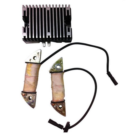 Afbeelding van 6A Laadspoel (2x) en spanningsregelaar - PTM160-420 / Honda GX160-390
