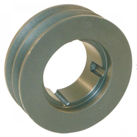 Afbeelding van 125 mm v-snaarschijf 2 groeven SPA snaar