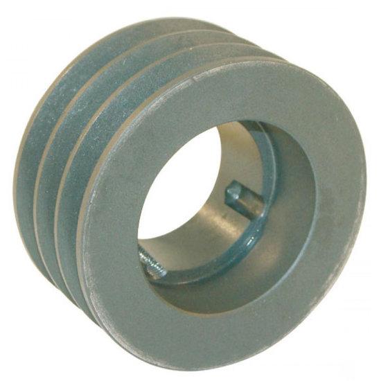 Afbeelding van 125 mm v-snaarschijf 3 groeven SPA snaar