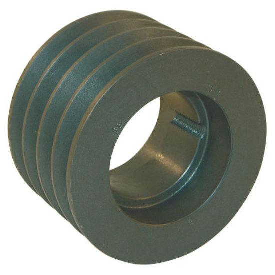 Afbeelding van 125 mm v-snaarschijf 4 groeven SPA snaar