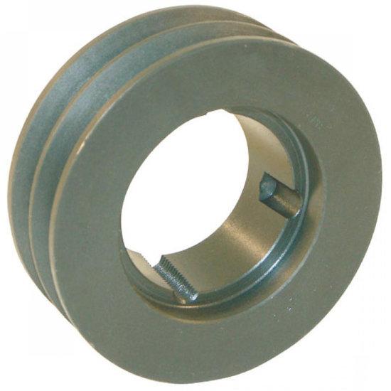Afbeelding van 125 mm v-snaarschijf 2 groeven SPZ snaar