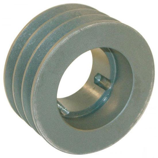 Afbeelding van 125 mm v-snaarschijf 3 groeven SPZ snaar