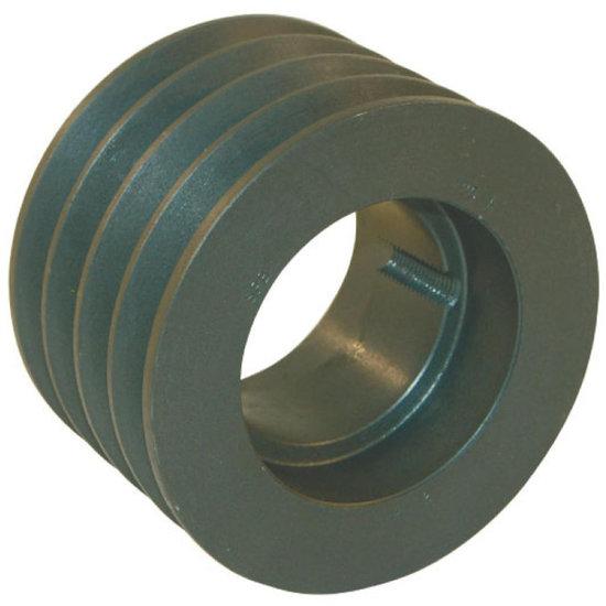 Afbeelding van 100 mm v-snaarschijf 4 groeven SPZ snaar