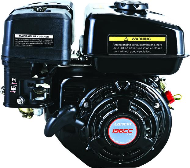 Afbeelding van Loncin G200F luchtgekoelde benzinemotor met 19,05 mm as