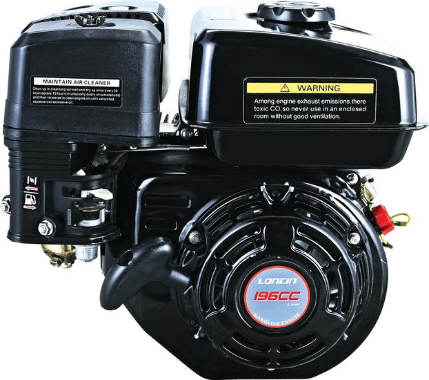 Afbeelding van Loncin G200FD luchtgekoelde benzinemotor met 20 mm as en elektrostart